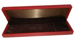 Red Jewelry Chain Box, 4 mm, Rectangular