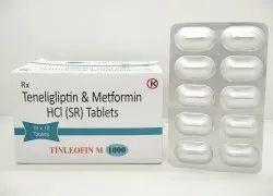 Teneligliptin Hydrobromide Hydrate 20 MG & Metformin HCL (SR) 1000 MG Tablets - Tinleofin M 1000