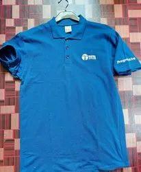 Printed Mixed Logo Polo Tshirt, Size: Large