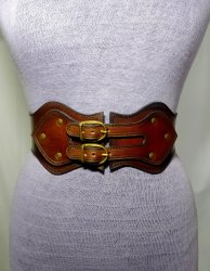 Medieval Tooled Handmade Genuine Leather Corset