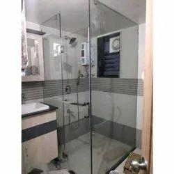 Bathroom Glass Partition, Shape: Rectangular