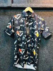2 Way Lycra Digital Print Shirt For Men Pack Of 3