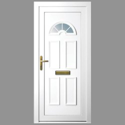 Polished PVC Hinged Door, For Home, Exterior