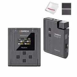 Black Comica BoomX-U U1 UHF Wireless Lavalier Microphone System