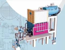Solid Fuel Fired 14000 Kgs/Hr Water Wall Membrane Panel FBC Boiler
