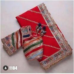 Wedding Wear Handwork Embroidered Saree, Size: Free, 5.5 m (Separate Blouse Piece)