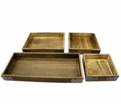 Polished Plain Wooden Case