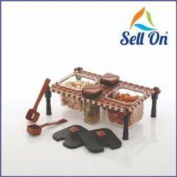 Rajwadi Style Spice & Pickle Jar Set