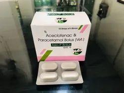 Aceclofenac & Paracetamol Bolus (Vet.)