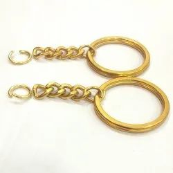 30 mm Flat Keychain Ring with jump ring