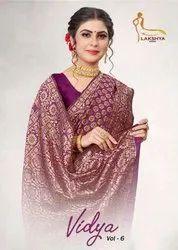 Lakshya Sarees Vidya Vol-6 Jacquard Silk Saree Catalog