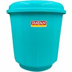 Water-Food Grains Round Ratan Plastic Drum, Capacity: 0 to 50 Litres, Packaging Type: Nos