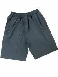 Cotton Lycra Men Gray Thigh Length Shorts, Size: 34