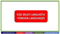 MULTI LINGUISTIC SKILL - FOREIGN LANGUAGES, For Eise Pedagogy Lms, From KG To Std-10
