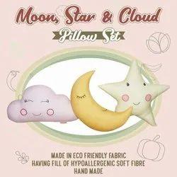Designer Pillow Moon Star & Cloud shape