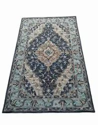 Black Hand Tufted Persian Rug, For Floor