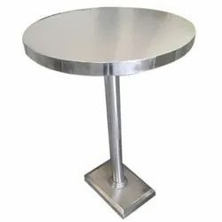 Grey Polished Hotel Stainless Steel Round Table, For Restaurant, Size: Standered