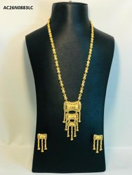 Simple Indian Design Attractive Gold Plated Necklace Set