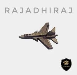 Free Style Golden Wooden Fighter Jet Brooch, Size: 2.5 Inch