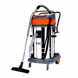Industrial Car Vacuum Cleaner Powered By Two Double Stage Italian Motors