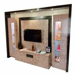 Wooden Wall Mounted Residential House Interior Designing Service