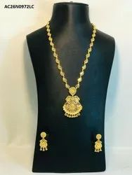 1 Grams Gold Plated Jewelry Necklace With Earring.