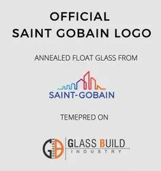 Transparent Saint Gobain Toughened Glass, Size: 1200, Shape: Flat