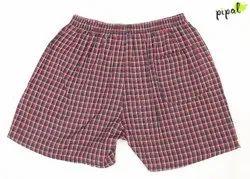 PIPAL Thigh Length Men Checks Boxer Shorts, Back Pocket, Size: L TO 2XL