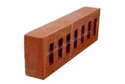 Exposed Perforated Rectangular Seven Hole Clay Brick