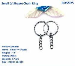 V Ring Keychain