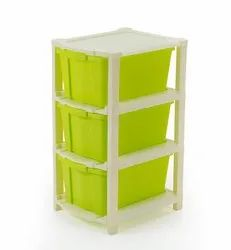 Plastic Multicolor Multipurpose Storage System Space Save Modular Drawer For Home Office