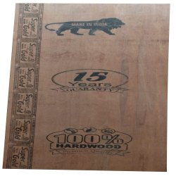 Super Gold Brown 18mm Commercial Hardwood Plywood, For Furniture, Grade: ISI-303