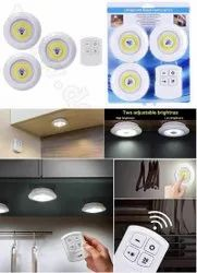 led light with remote control set of 3