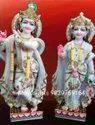 Radha Krishna Standing Marble Statue