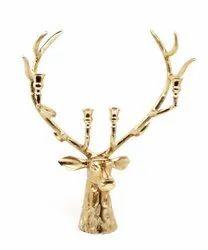 Large Stag Head Candelabra Deer candle holder