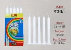 Ribbed Wax Stand Candles 3.6-10-RST