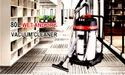Industrial Wet & Dry Vacuum Cleaner Powered By 2 Double Stage Italian Motors