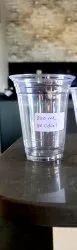 100 mm Transparent 250ml PET Disposable Glass