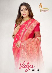 Lakshya Sarees Vidya Vol-5 Jacquard Silk Saree Catalog