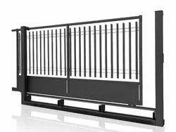 Manual Mild Steel Ms Sliding Folding Gate, For Home