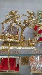 Metal Laddu Gopal Jhula