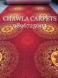 Chawla Carpets Non Woven rotary printed carpet, For Flooring