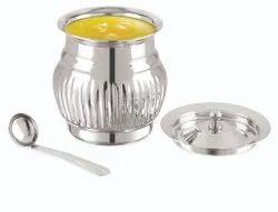 SS Lotus Design Pot, Capacity: 250 ml