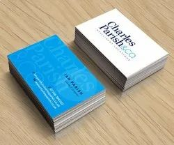 Custom Design White Imported textured Visiting Card, Size: 92x54mm