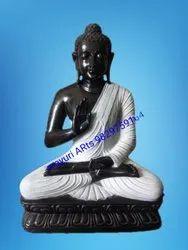 5 Feet Black Stone Buddha Statue