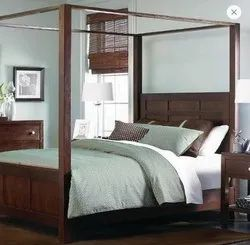 KJ IMPEX Queen Size Wooden Bed, Without Storage, Size: Standerd