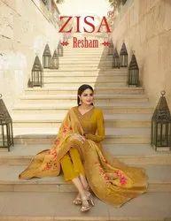 Tusser Satin Resham Zisa Ladies Suit