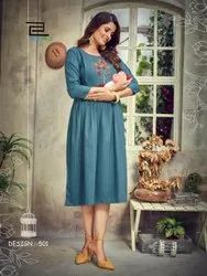 10 Color Feeding Maternity Gown, 200, Sleeves: Half