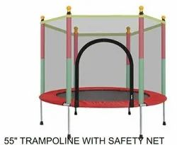 55 Trampoline With Safety Net