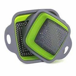 Rex Multicolor Silicone Foldable Basket